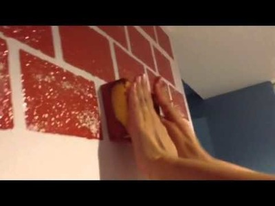 How to paint a fake brick wall