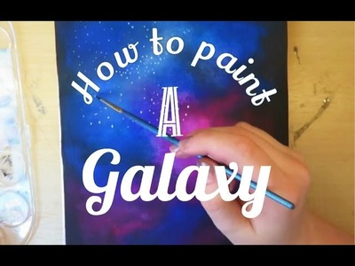 How to paint a galaxy |Drawicorn