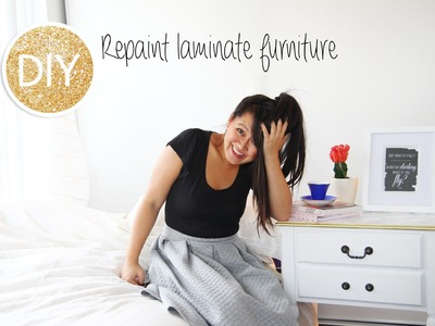 How to repaint laminate furniture (bedside table)