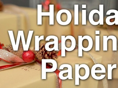 How to Wrap Holiday Gifts!!