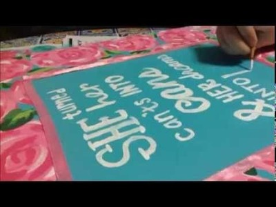 Lilly Pulitzer Canvas Painting (Sped Up)