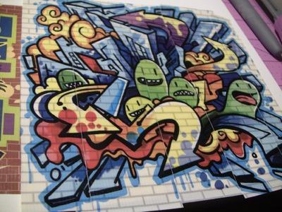 Lining up Graffiti Duck tape!