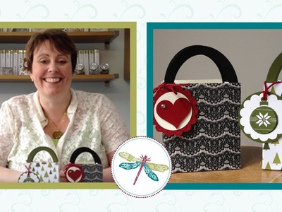 Make a Shopping bag Gift Bag using the Gift Bag Punch board by Stampin' Up!