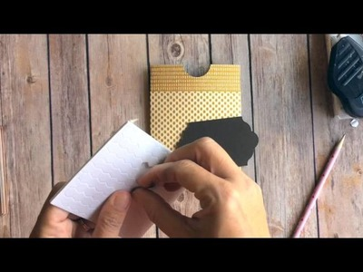 Stampin' Up Gift Bag Punch Board  Pocket Card