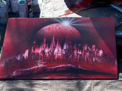 Street Art (painting with spray)