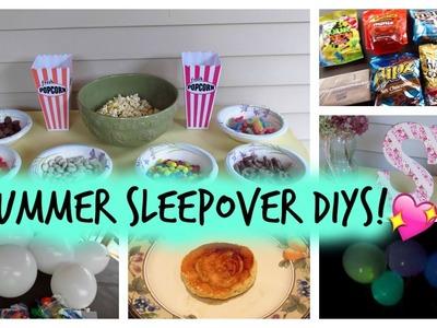 Summer Sleepover DIYS | Decorations, Treats, and more!