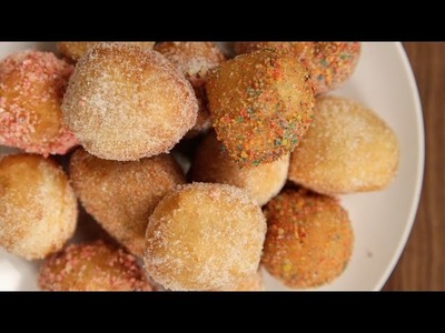 Sweet Hack – 3-Minute Donut Holes! | Get the Dish