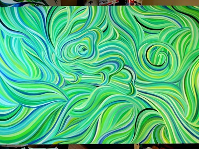 Abstract Chameleon Acrylic Painting ^_^