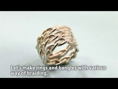 Braided free size ring with PMC Flex