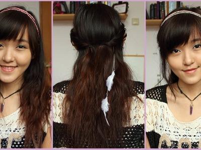 DIY Boho Feather Headband + How I Style It (3 Hairstyles)