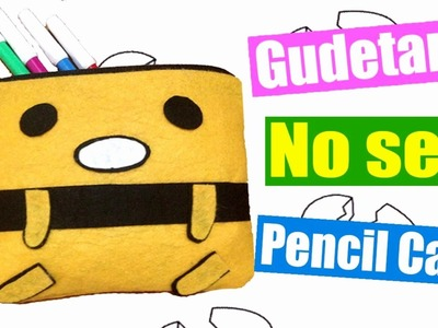 DIY Gudetama Pencil Case - How to make Gudetama Makeup Bag (NO SEW)