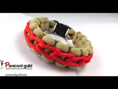 Double stairstep stitch bracelet