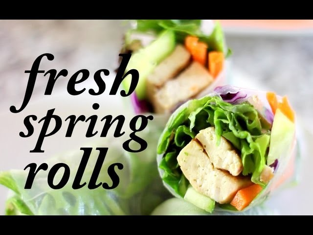 Fresh Vegan Spring Rolls   Cheap Clean Eats