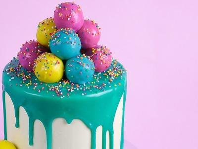 Ganache Dripping, Cake Pop Decorated Cake Tutorial
