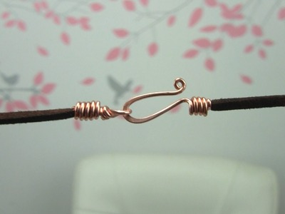 Handmade Wire Hook Clasp for Cord Necklace