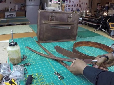 How To Make A Leather Bag Without  Lining Part 2
