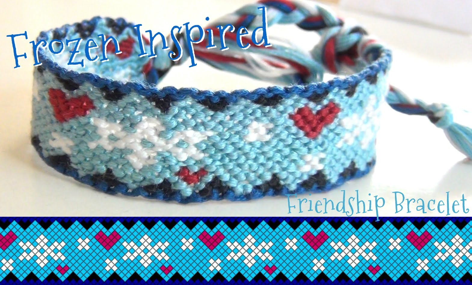 """How to Make Friendship Bracelets ♥ """"Frozen"""" Inspired Hearts and Snowflakes"""