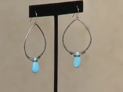 How to Make Hammered Earrings with Turqouise