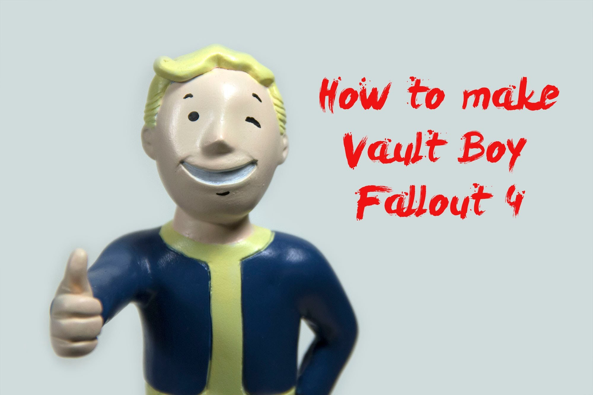 How to Make Polymer Clay Vault Boy Figure - Fallout 4 Tutorial