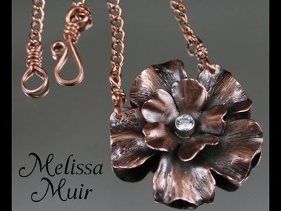 Making a Copper Flower Pendant - From Start to Finish