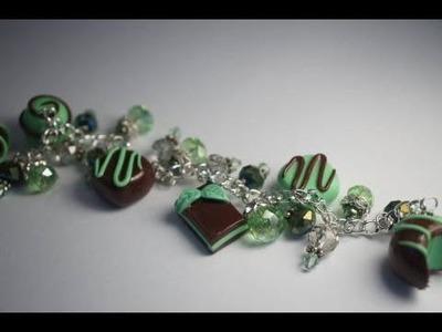 Making A Mint Chocolate Charm Bracelet