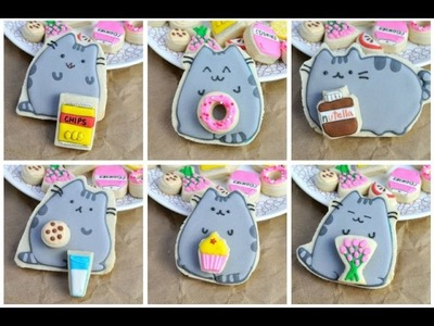 PUSHEEN CAT COOKIES WITH FOOD COOKIES, HANIELA'S