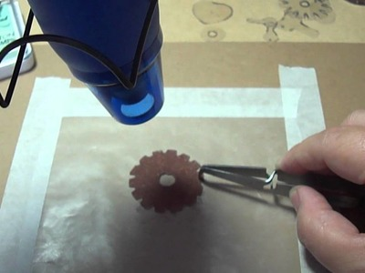 Shrink Gears, Keys and Stamp Embellishments Tutorial
