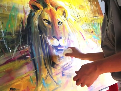 Time Lapse Acrylic Speed Painting: LION