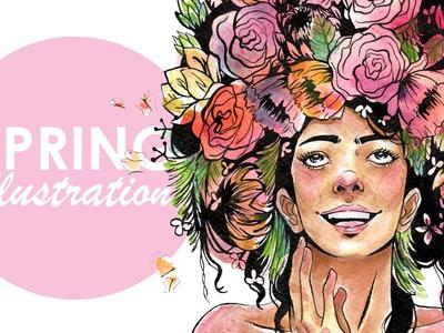 Watercolour Illustration - Spring