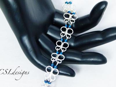 Wirework butterfly gemstone chain ⎮ Make your own chain series