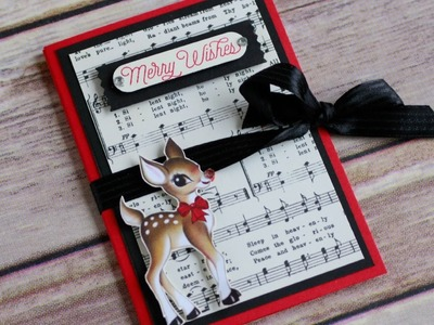 12 Days of Christmas Series Day 8: Fancy Fold Reindeer Gift Card Holder