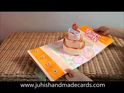 3D, 3 Tier Pop-Up Cake Card