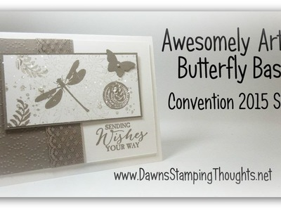 Awesomely Artistic Butterfly Basics  swap card for Convention 2015 with Dawn
