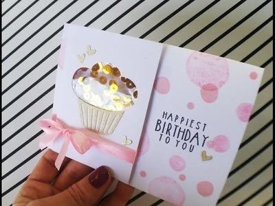 Birthday Cupcake Shaker Card