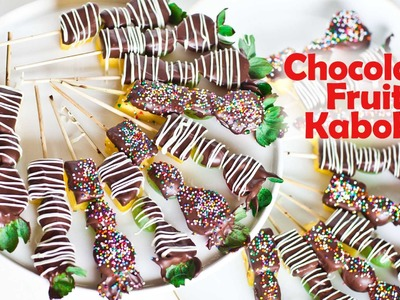 Chocolate Fruit Kabobs - Valentine's Day