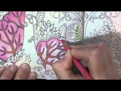 Colouring Tutorial: Pencil Blending and Choosing Colours Chat. Enchanted Forest.