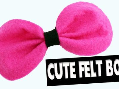 Cute felt bow - Easy Crafts