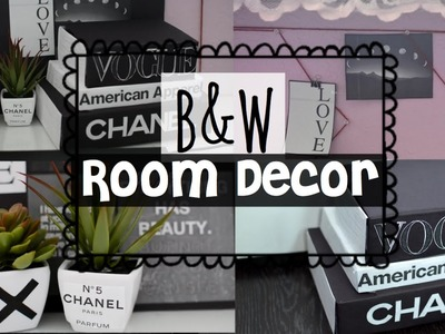 DIY Black & White Tumblr Room Decor ! EASY & INEXPENSIVE !
