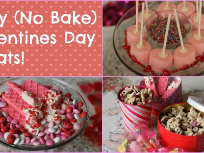 Easy (NO BAKE) Valentines Day Treats ||BeautyAllure06