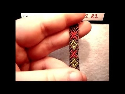 ► Friendship Bracelet Tutorial - Beginner - XOXO pattern (v1)