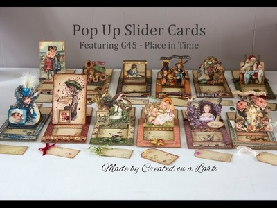 Graphic 45 Place in Time Slider Pop Up Cards