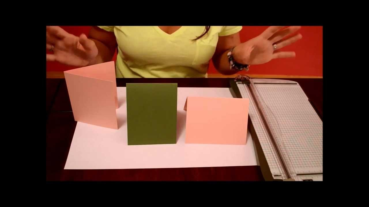 How To Card Making - Basic Size & Folds