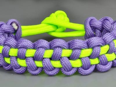 How to make a Stitched Solomon Bar paracord bracelet