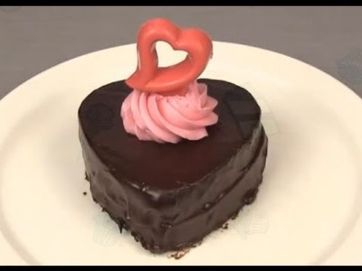 How to make the heart shaped chocolate Valentine's Cake