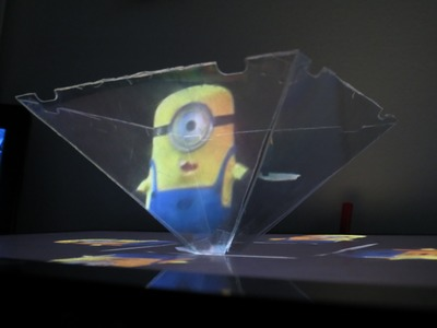 How to use your Smartphone or Tablet to make a 3D hologram projector - Minion