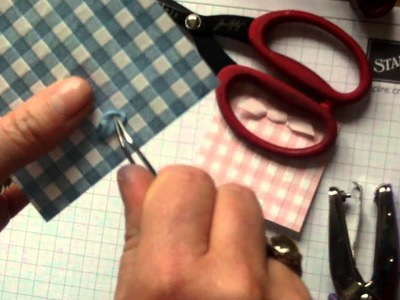 Independent Stampin Up UK Demo Michelle Last - How to tie a sweetie bow