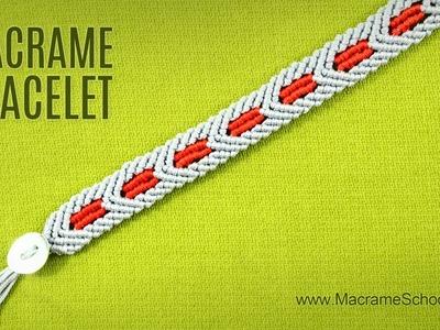 Macramé Star Wars Bracelet Tutorial | Chevron Pattern
