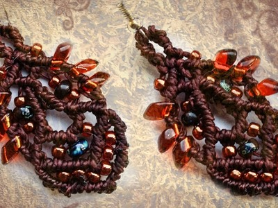 Magatama Earrings - micro macrame tutorial