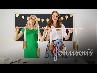 Make an Upcycled Hanging Herb Garden with The Girls With Glasses   JOHNSON'S®