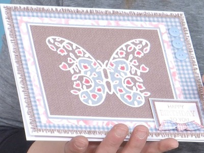 Making a Stenciled Butterfly Card | In The Studio